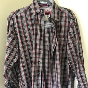 Wrangler x George Strait plaid long-sleeve
